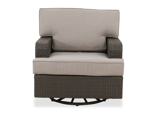 Aluminum Club Swivel Glider Chair in Brown