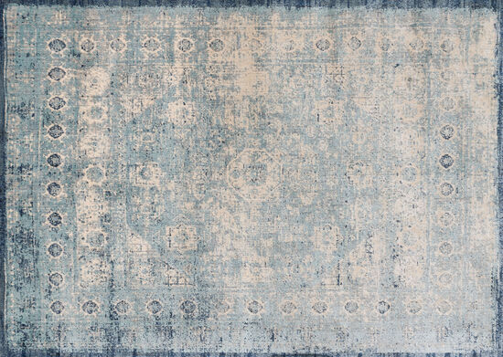 "Loloi Power Loomed 5'3"" x 7'8"" Rug in Light Blue/Ivory"