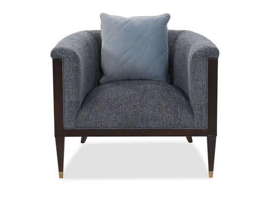 Barrel Back Transitional 35.5'' Accent Chair in Blue