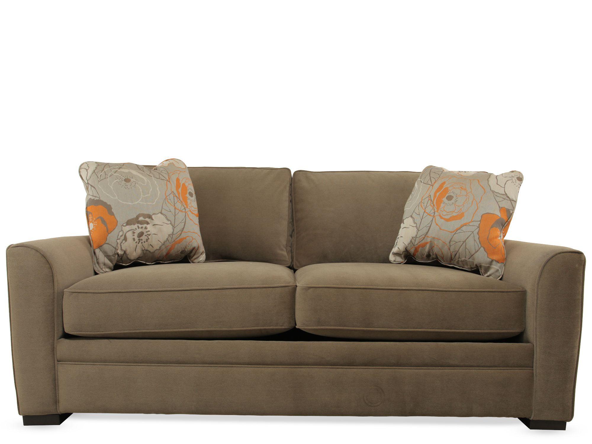 Images Casual 81u0026quot; Full Sleeper Sofa In Brown Casual 81u0026quot; Full Sleeper  Sofa In Brown