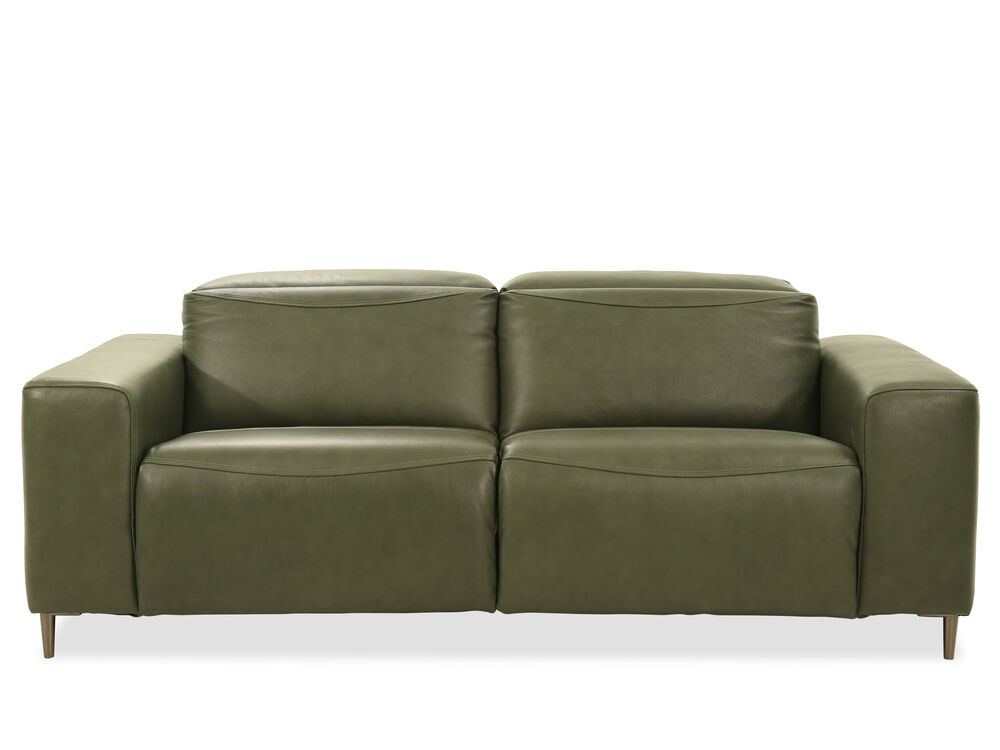 Images Reclining Leather Sofa In Green