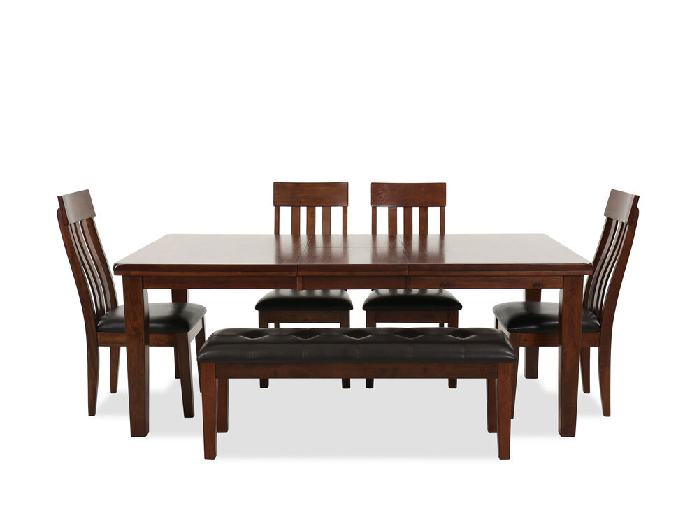 Six Piece Casual Dining Set In Brown Mathis Brothers Furniture