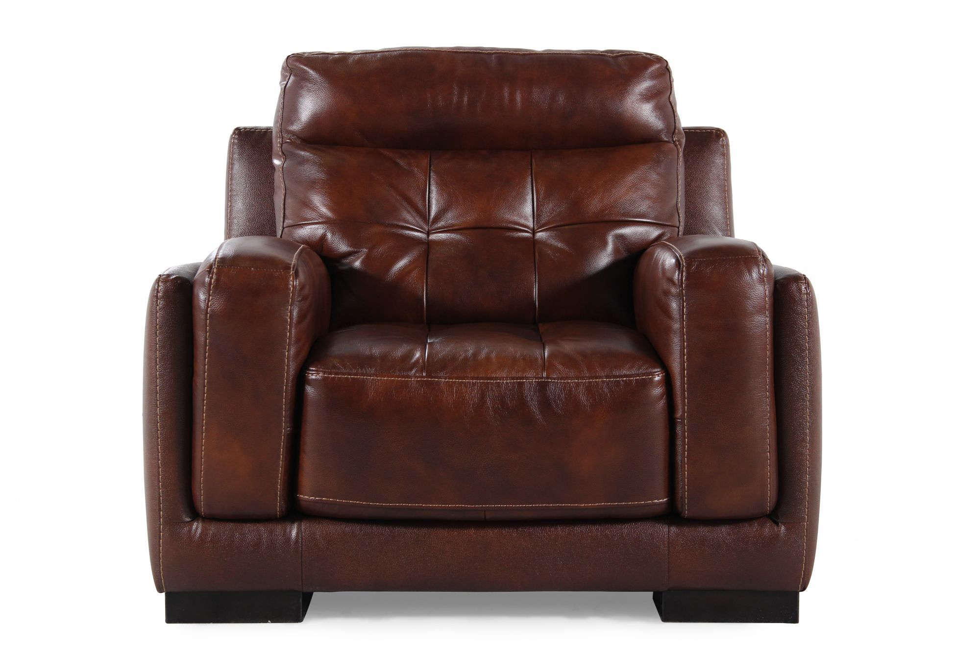 Tufted Leather Chair In Brown ...