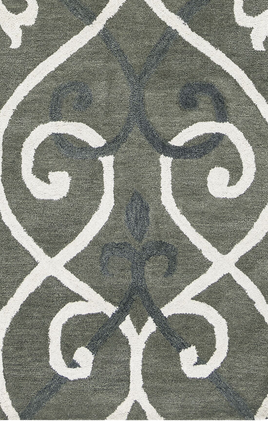 """Transitional Hand-Tufted 2'6""""  x  8' Runner Rug in Grey"""