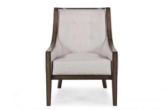 "Button-Tufted Contemporary 27.5"" Chair in Cream"