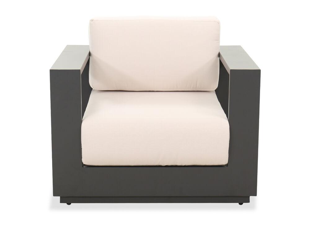 Contemporary Patio Chair in Cream