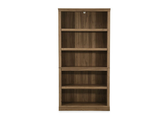 Casual Five-Shelf Bookcase in Salt Oak