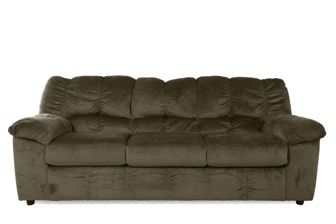 Casual Microfiber 90 Quot Sofa In Dune Mathis Brothers Furniture