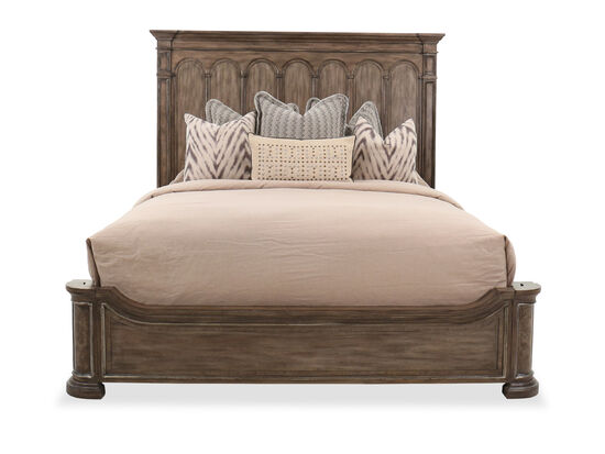 "74.5"" Traditional California King Panel Bed in Brown"