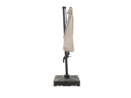 Contemporary Cantilever Tilt Umbrella in Beige