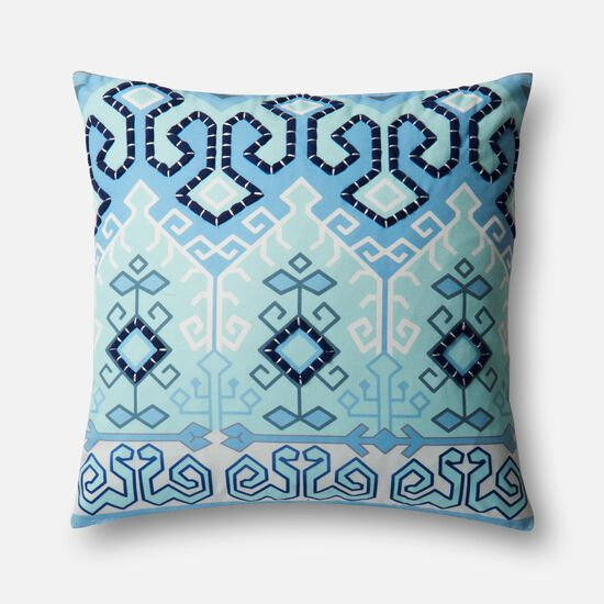 "22""x22"" Pillow Cover Only in Blue/Multi"