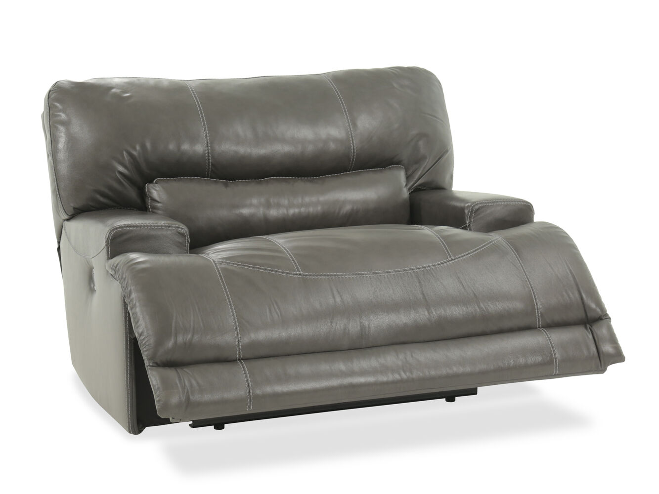 Oversized Power Recliner In Gray Mathis Brothers Furniture
