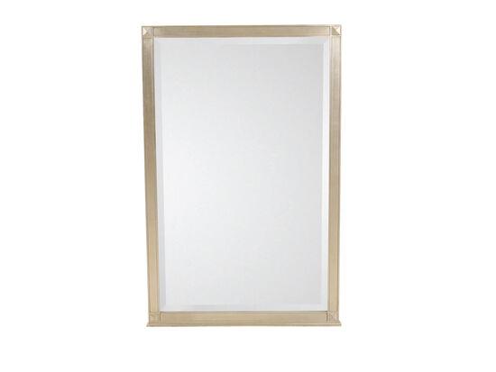 "48.5"" Modern Beveled Mirror in Auric Silver Leaf"