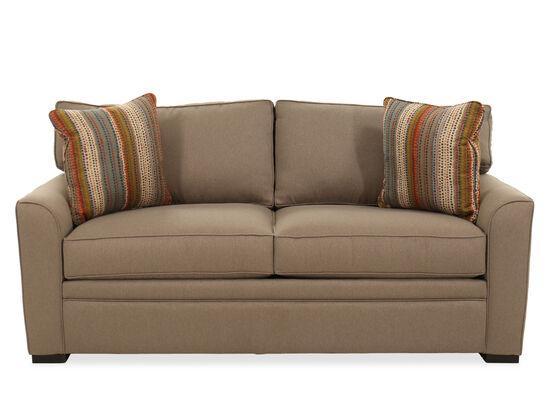 "Casual 82"" Full Sleeper Sofa in Brown"