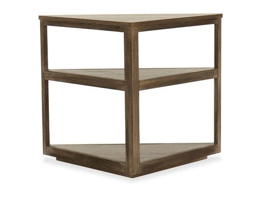 Casual Three-Shelf End Table in Oak