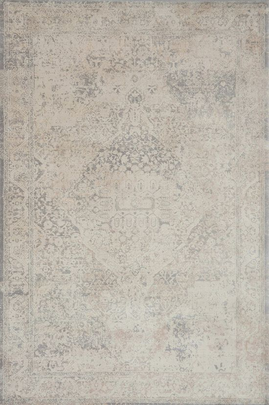 """Transitional 2'-7""""x8'-0"""" Rug in Ivory/Ivory"""