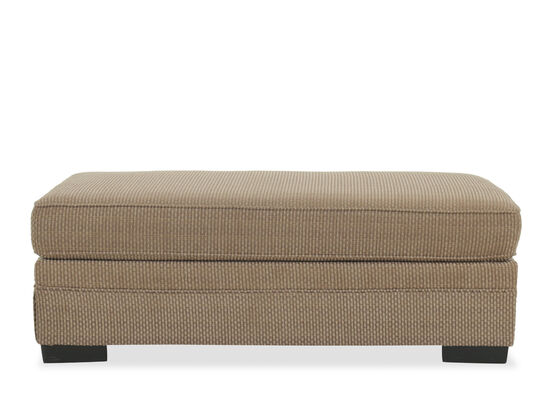 """Traditional 54"""" Ottoman in Brown"""
