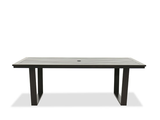 Casual Rectangular Patio Dining Table in Brown