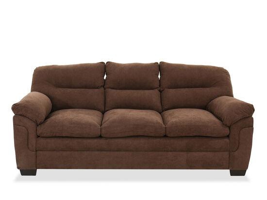 "Casual 88"" Sofa in Chocolate"