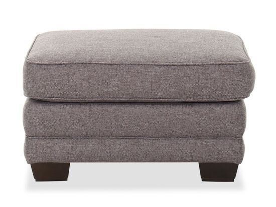 "32"" Casual Cushion-Top Ottoman in Gray"
