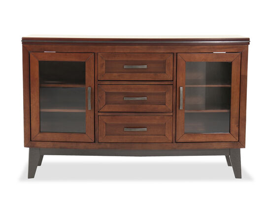 """Transitional 36"""" Three-Drawer Dining Server in Brown"""