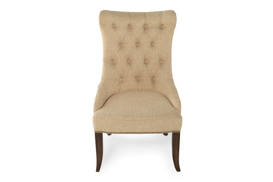 Two-Piece Diamond Button-Tufted 45.5'' Arm Chair Set in Beige