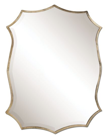 30'' Curved Frame Accent Mirror in Gray