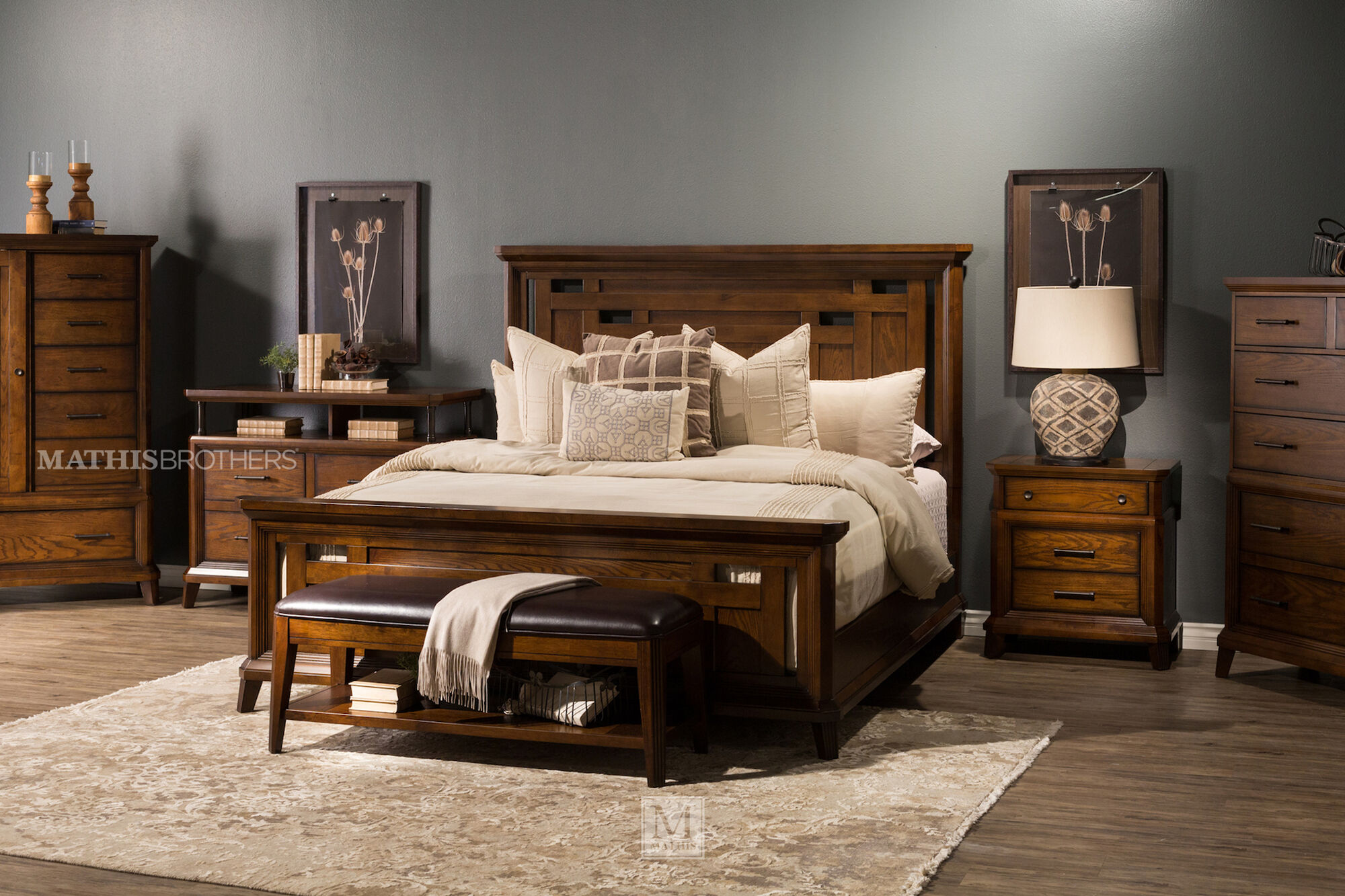 Four Piece Mission Bedroom Set In Brown