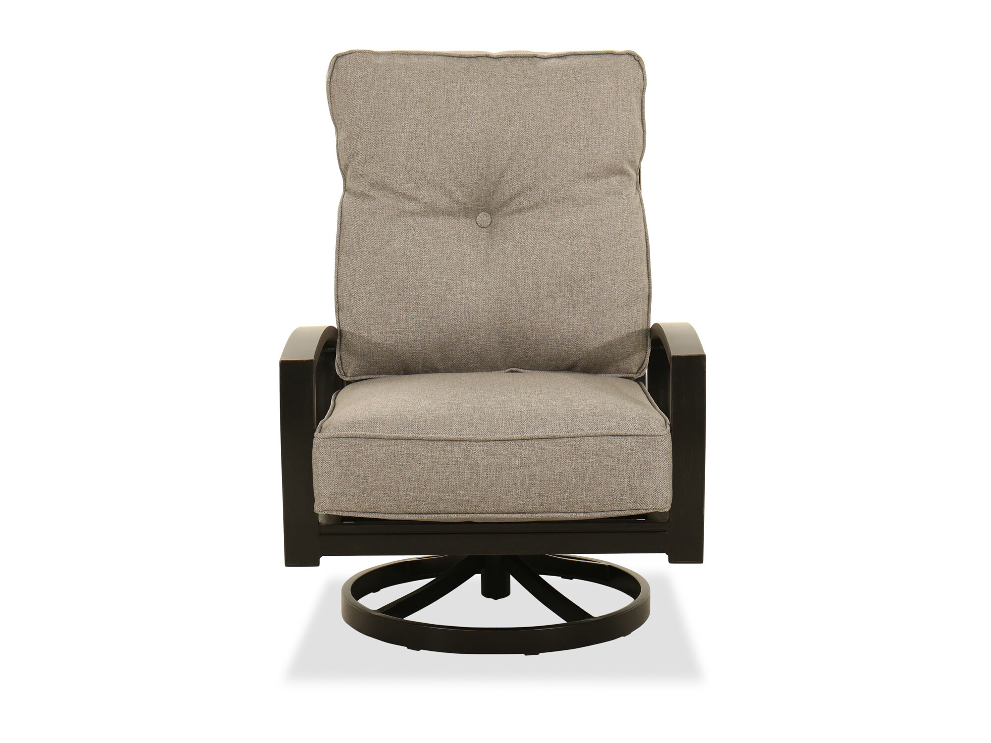 Contemporary Swivel Lounge Chair In Light Gray Mathis