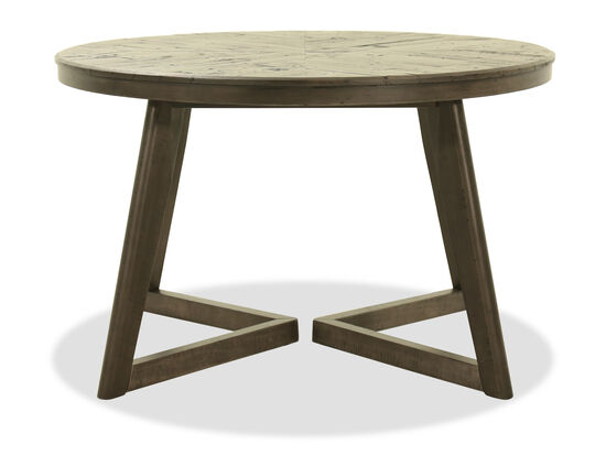 Round Contemporary 48'' Dining Table in Dark Charcoal Gray
