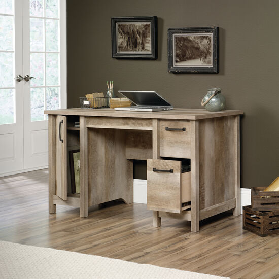 "53"" Traditional Three-Drawer Computer Desk in Lintel Oak"
