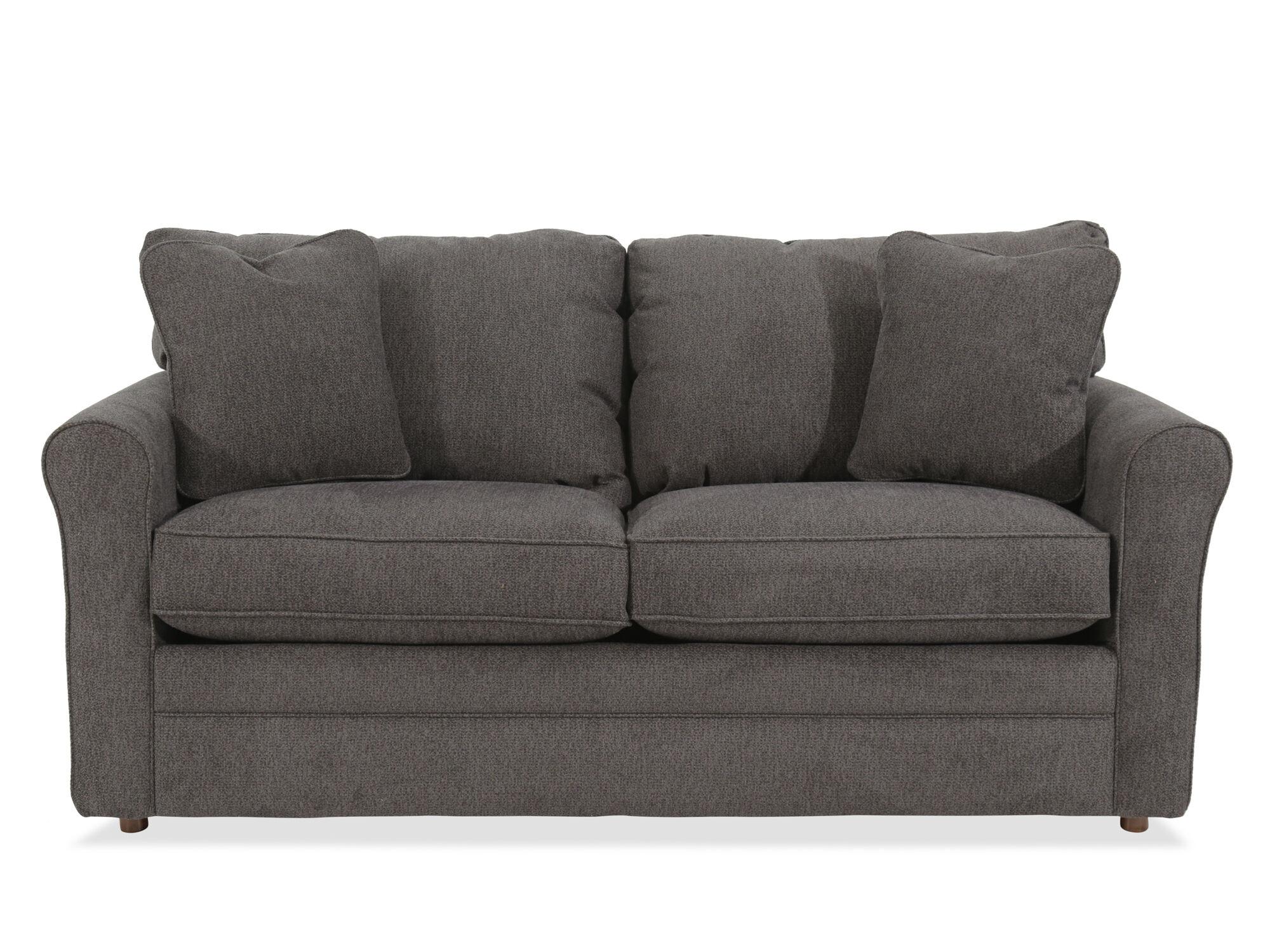 lazboy leah premier supreme comfort gray full sleeper sofa