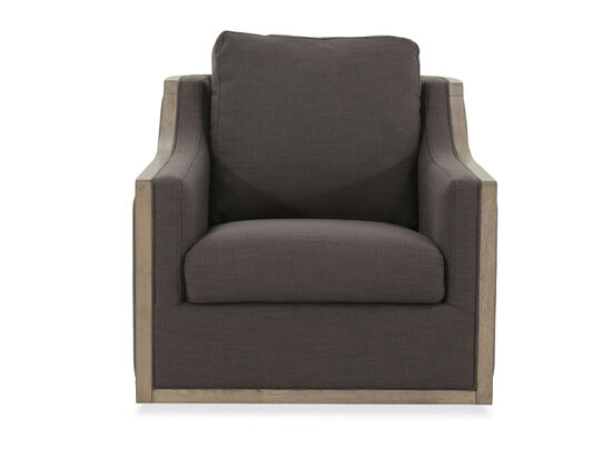 "Two-Tone Contemporary 34"" Swivel Chair in Black"