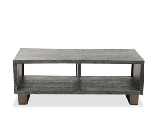 Transitional Rectangular Cocktail Table in Waxy Black