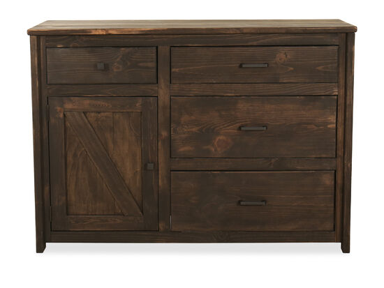 Traditional Four-Drawer Youth Bureau in Brown
