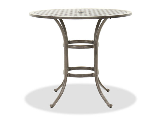 Casual Round Counter Table in Gray