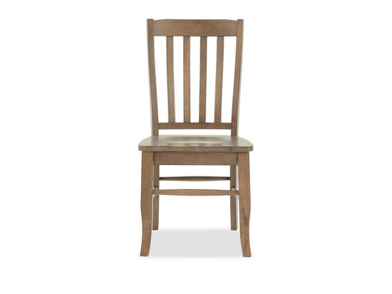 """Traditional 38"""" Rake Back Side Chair in Brown"""