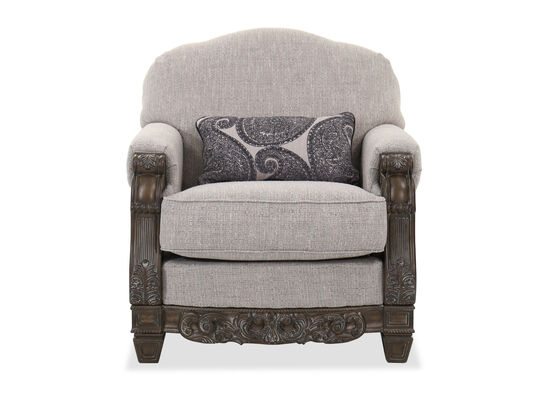 Traditional Living Room Chair in Slate