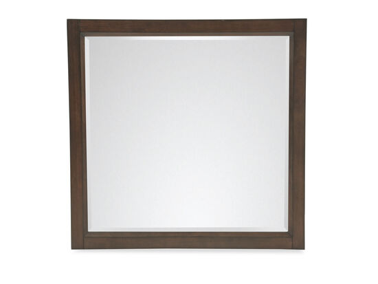 Traditional Beveled Accent Mirror in Espresso