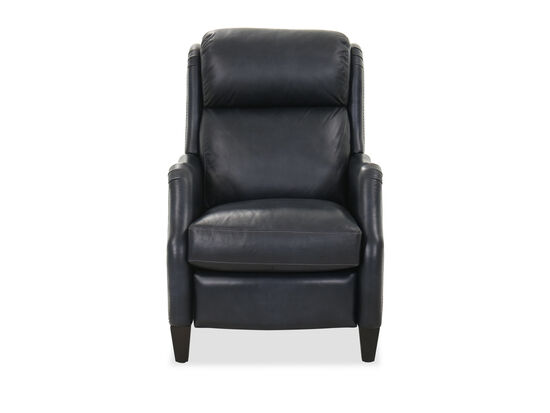 "Leather 29"" Power Motion Recliner in Dark Blue"