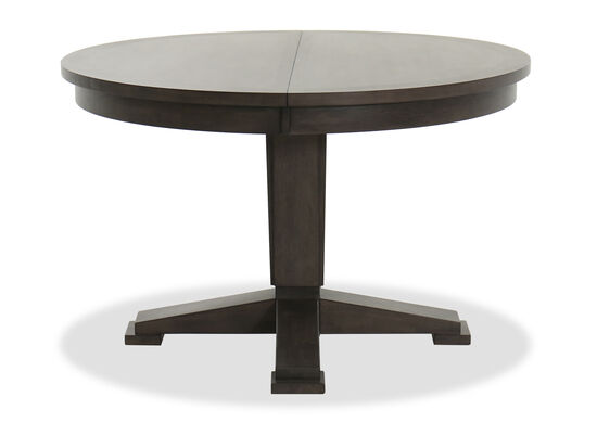 """Contemporary 66"""" Pedestal Dining Table in Gray"""