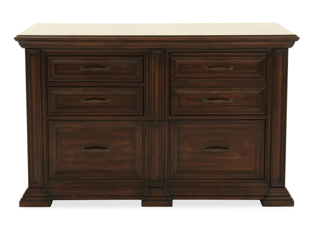 Traditional File Cabinet in Tobacco