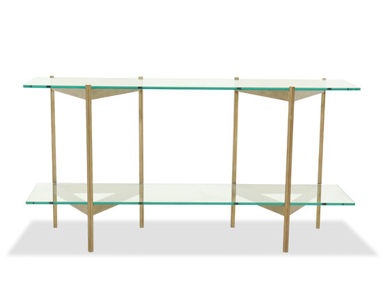 Contemporary Sofa Table in Gold