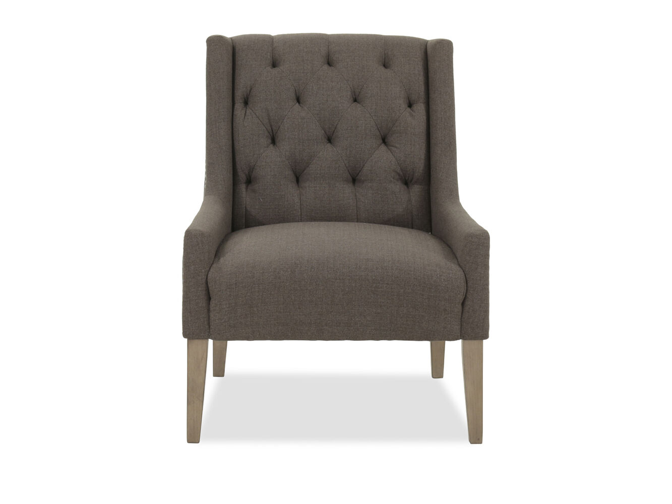 Tufted casual accent chair in gray mathis brothers furniture Tufted accent chair