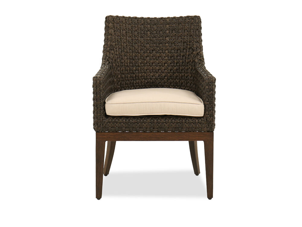 Woven Dining Chair in Ebony
