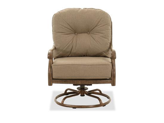 Aluminum Swivel Club Chair in Brown