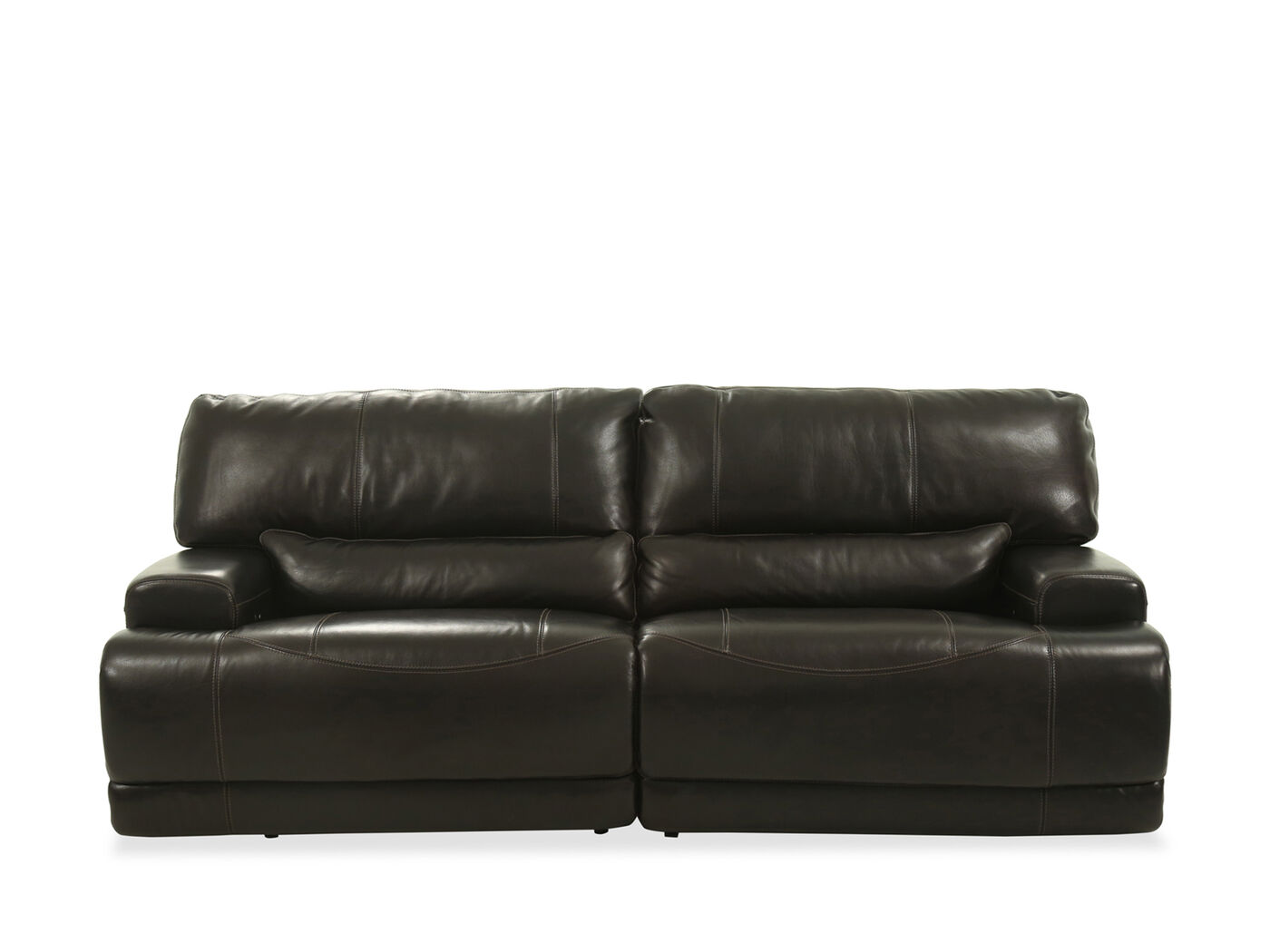 Power reclining leather 91 sofa in blackberry