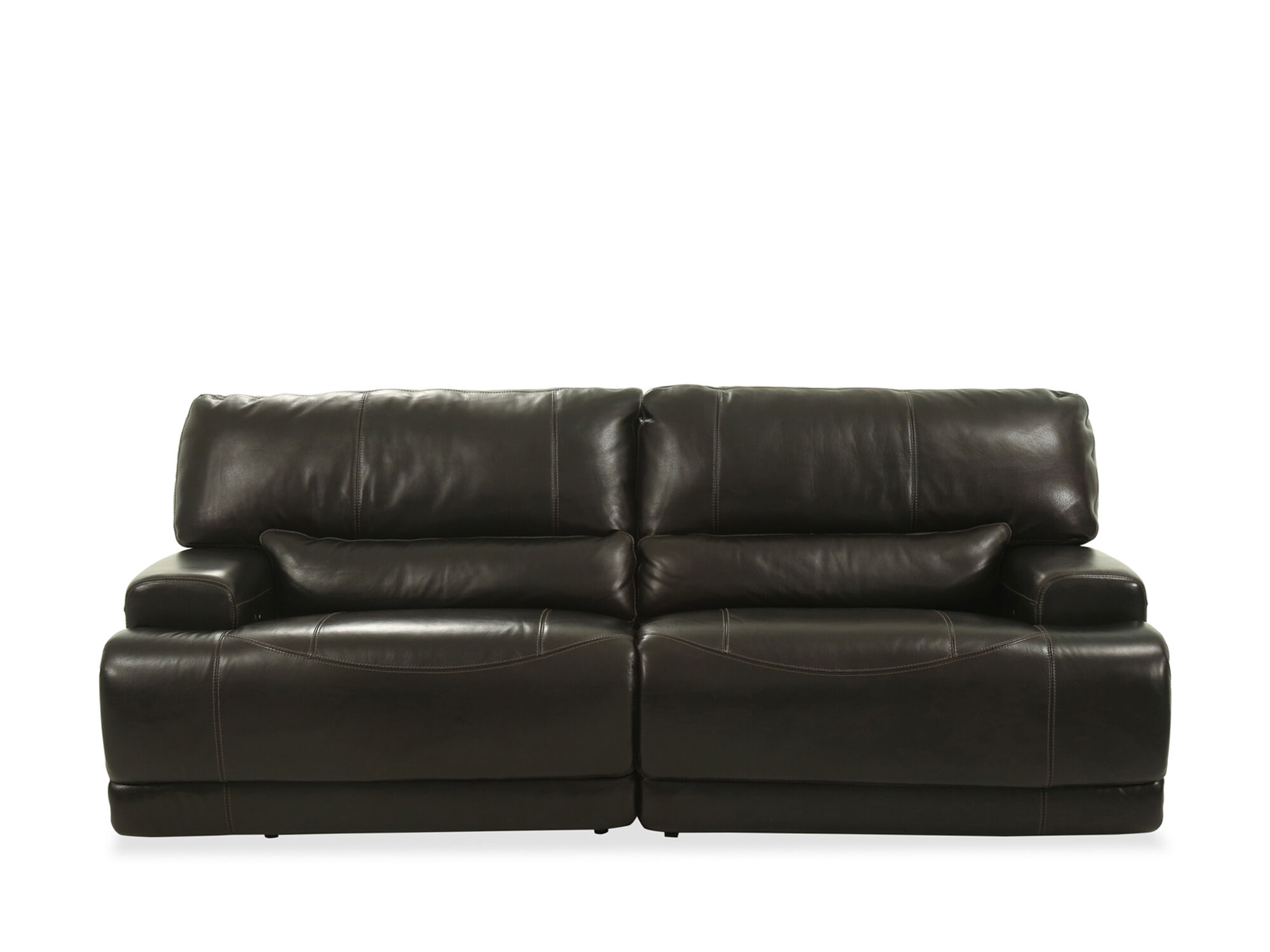 Power Reclining Leather 91u0026quot; Sofa In Blackberry ...