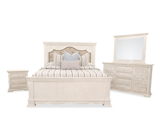 Four-Piece Casual King Bed Suite in White