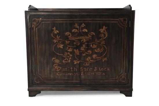43'' Two-Door Traditional Wine Cabinet in Dark Brown